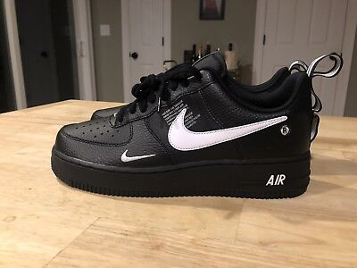 Nike Air Force 1 Off White Af1 Black Mens Sz 9 New Low Utility