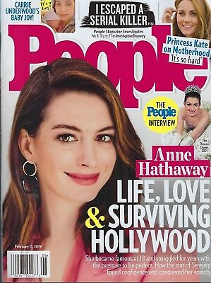 People Magazine February 4th 2019  Anne Hathaway