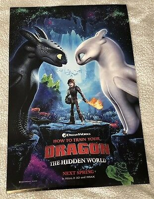 How to Train Your Dragon 2019 Original D/S Movie Poster 27x40