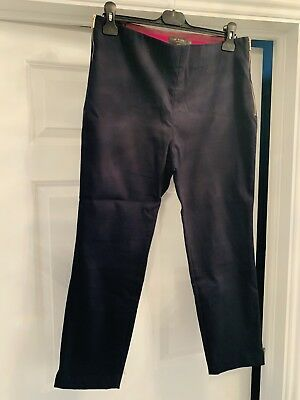 800f130b32979 Ted Baker Baylea Navy Cropped Trousers - Size 4 (14)
