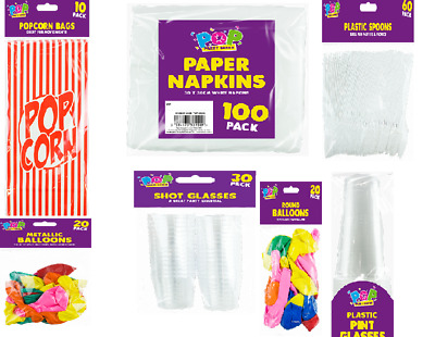 Disposable Plastic -party items Spoons, Cups, Table Cloth, Napkins & many more