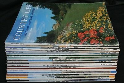 Country Life Magazine x 16 Issues from 1984 January - September