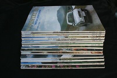 Country Life Magazine x 14 Issues from 1985 and 1986