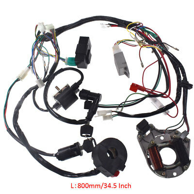 Atv Wiring Harness 50 70 90 110 125 Cc Quad Four Wheeler Taotao