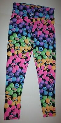 New Justice Leggings Girls 20 year Stretch Legging Happy Face Bubbles Emojis