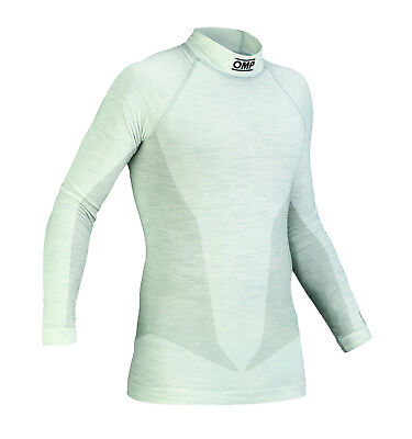 OMP One FIA Long Sleeve Nomex Top White Lightweight Race / Rally