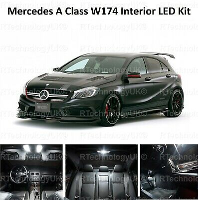 Premium Mercedes A Class W174 Led Interior Upgrade White Kit Set A45 A200