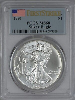 1991 American Silver Eagle PCGS MS68 First Strike
