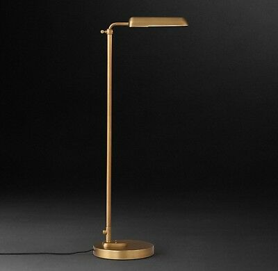 $499 - Restoration Hardware 1930s Parisian Task Floor Lamp - Antique Brass