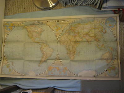 VINTAGE THE WORLD MAP December 1941