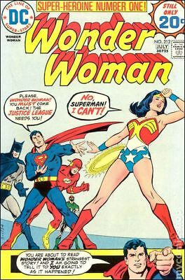 Wonder Woman (1st Series DC) #212 1974 VG- 3.5 Stock Image Low Grade