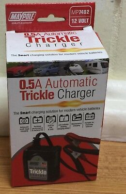 Maypole MP7402 Automatic Trickle Battery Charger, 12 V