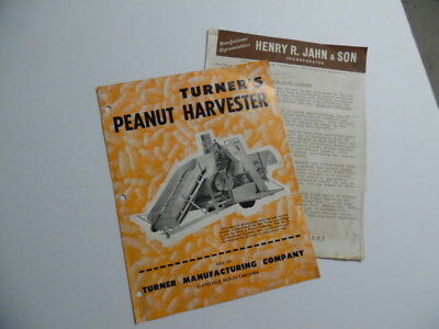 1954 Turner Mfg Co Peanut Harvester Catalog Brochure Statesville NC Vintage