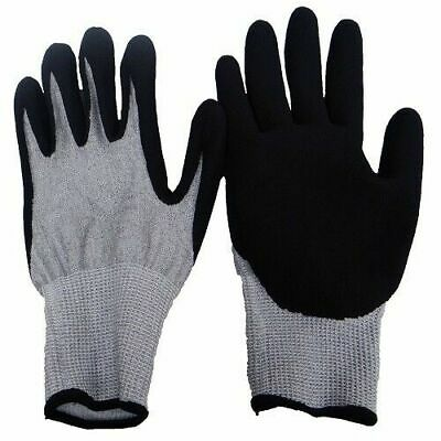 12 Pairs ~ ACE 71372 Canvas Work Gloves Black PVC Dot Gripper Natural ~ Large