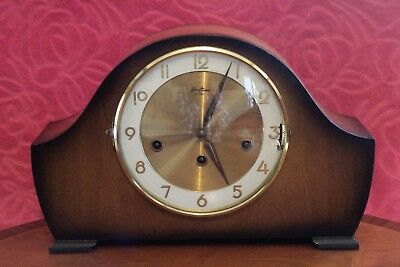 Vintage English 'Bentima' 8-Day Mantel Clock with 3 Melodies Chimes