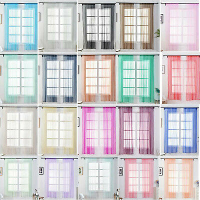 1x1.5m Blackout Window Curtains Tulle Blinds Drapes Sheer fr Living Room Bedroom