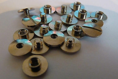 Chicago Posts & Screws Brass & Nickel in sizes from 2 - 50mm In Packs 10 - 100