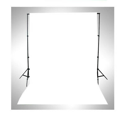 Vinyl Photography Photo Background Studio Backdrop 5X7FT Solid Plain White LB