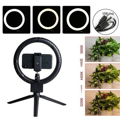 "7"" LED Ring Light Dimmable 2800-5500K Lamp Photography Camera Photo Studio Video"
