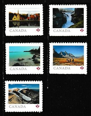 Canada Far & Wide 'P' set (5 stamps from booklet of 10) MNH 2019