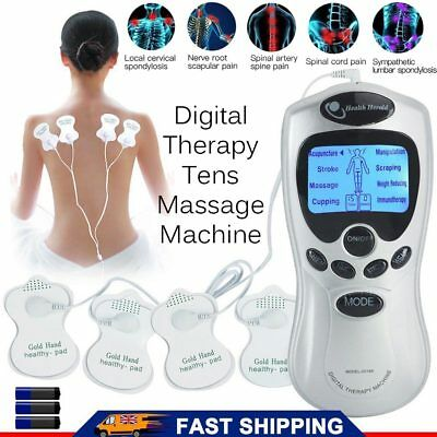 Tens Machine Digital Therapy Full Body Massager 8 Pain Relief Acupuncture Back D