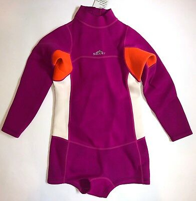 Womens Shorty Wetsuit 2mm Spring Suit Long Sleeve Booty Cut Boy Short  Small.