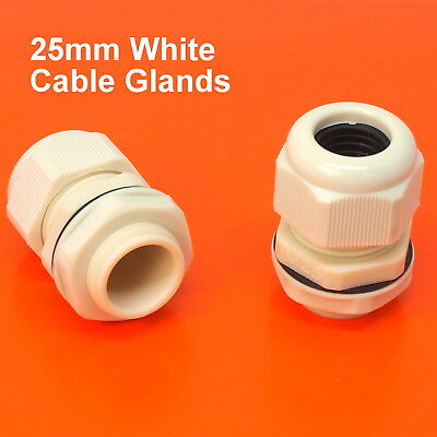 High Quality 25mm M25 White Dome Head Waterproof Cable Gland With Nut & Washer