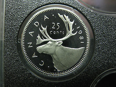 1981 Canadian Proof Quarter ($0.25)