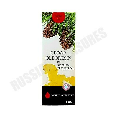 Siberian Cedar Oleoresin in Siberian Pine Nut Oil with St. Johns Wort 100 ml