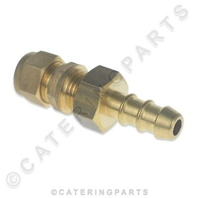 LPG FULHAM NOZZLE & COMPRESSION FITTING CONNECT 8mm COPPER PIPE TO 8mm GAS HOSE