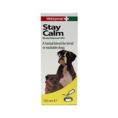 Vetzyme Stay Calm Nutritional Oil 150ml - Dog