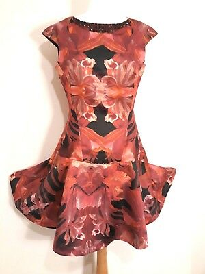 c1f93315ffd Ted Baker Jungle Orchid Jewel Embellished Wedding Party Dress 10 Bnwt  Rrp£180