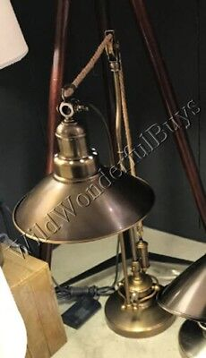 New Perfect Pottery Barn Glendale Pulley Task Table Lamp Antique