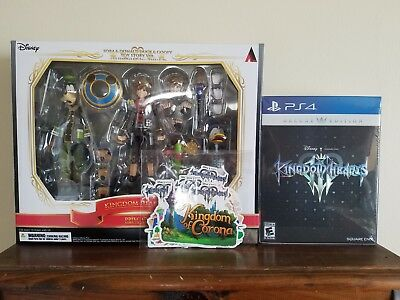 Kingdom Hearts III 3 - Deluxe Edition + Bring Arts figure - new and sealed!