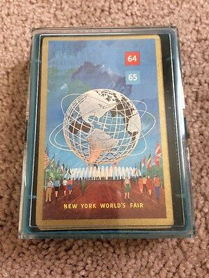 Worlds Fair  Collectible Playing Cards Vintage 1964 1965 Stancraft New York