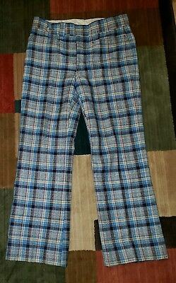 Vintage Pants Plaid Golf Hipster Rockabilly Union Made 60s 70s( F01)