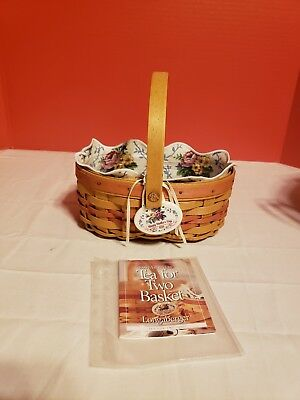 Longaberger 1999 Mothers Day Basket w Liner Protector Tie On Combo
