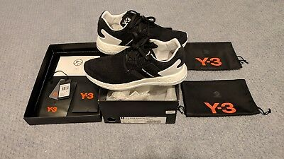 b4c8519b9 DS ADIDAS Y-3 Pure Boost ZG Knit Core Black Sz 8 AQ5729 -  400.00 ...
