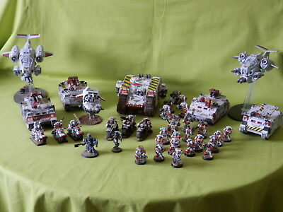 Warhammer 40K Space Marines Army White Scars  - Many Units To Choose From