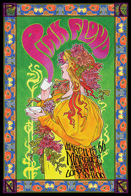 Pink Floyd Marquee 66 Bob Masse Music Poster 24x36 inch