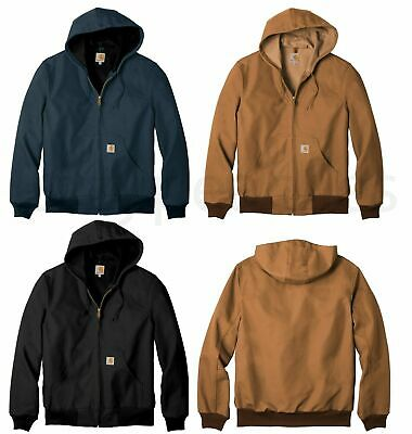 Carhartt Thermal Lined Duck Active Jacket Coat C131 Hoody Hoodie Free Ship