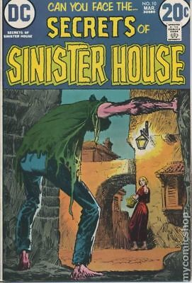 Secrets of Sinister House #10 1973 VG 4.0 Stock Image Low Grade
