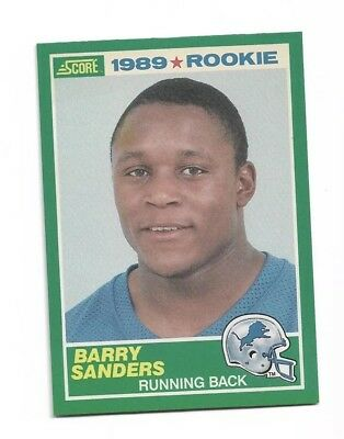 1989 Score Football 257 Barry Sanders Detroit Lions Rc