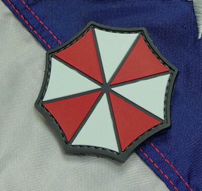 Umbrella Resident Evil Pvc Morale Patch Hook Loop Tactical Army Military Corp
