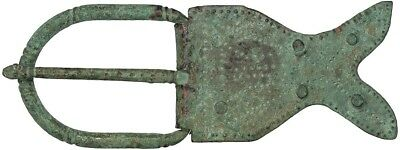 Roman Bronze Belt Buckle in the Shape of a Fish; 3rd-4th Century AD.W/ COA