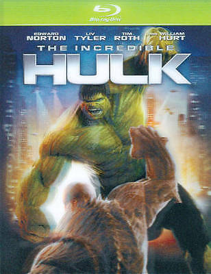 The Incredible Hulk (Blu-ray Disc, 2008) OOP Rare Green Case Marvel MCU Avengers