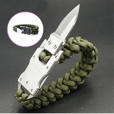 Outdoor Edge Emergency Survival Bracelet&Knife Camping Hiking Parachute Tool Kit