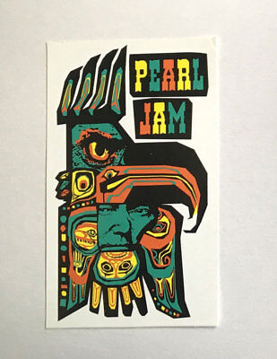 Pearl Jam Rare Original 2005 Tour Sticker  Killer Ames Bros Vancouver Poster Art