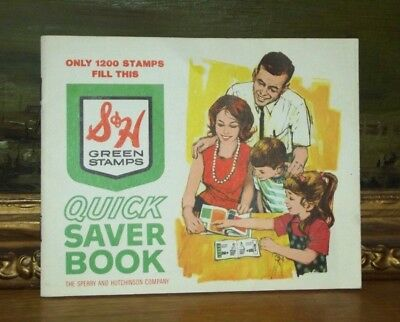 S&H Green Stamps Quick Saver Book 1970's 24 Pages unused