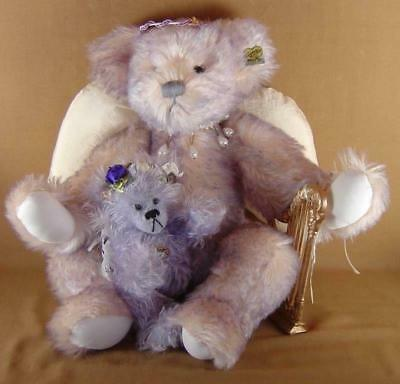 Annette Funicello White Angel Bear Dolls & Bears Mint With Tag And Crystal Angel Mini Bear Annette Funicello